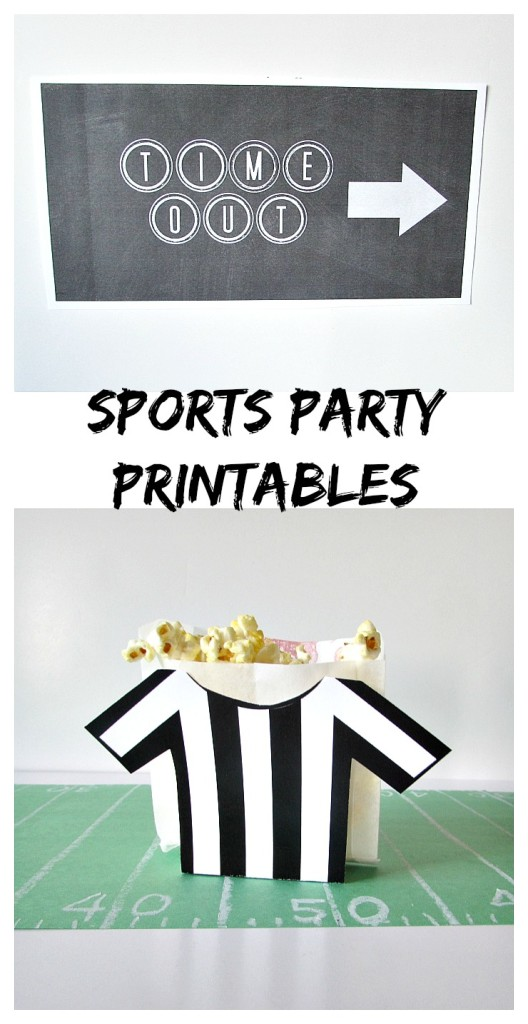 Sports Party Printables. Get ready for the big game with some fun printables!