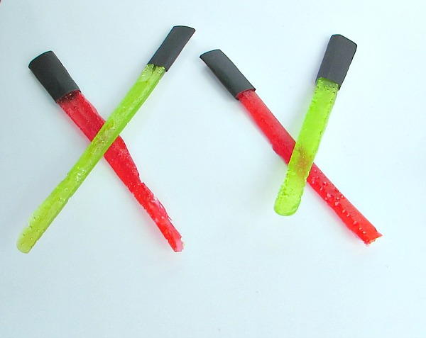 These candy lightsabers are perfect for a star wars party