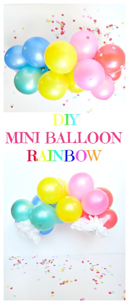 DIY Mini Balloon Rainbow