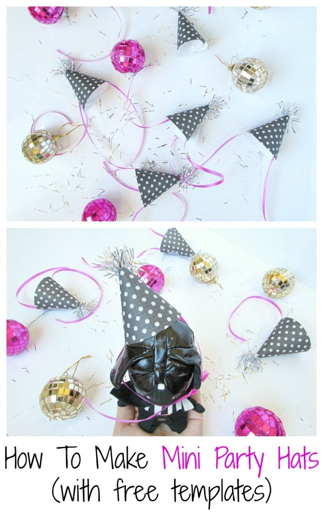 How To Make Mini Party Hats! (with free templates)