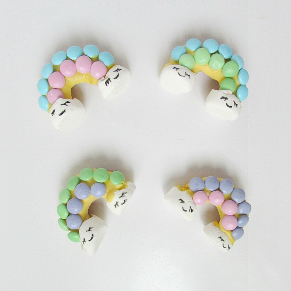 pastel rainbow mini donuts