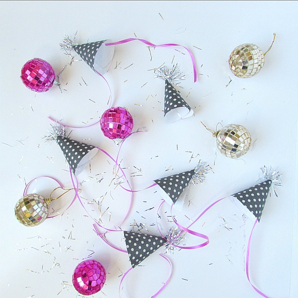 cute polka dot mini party hats