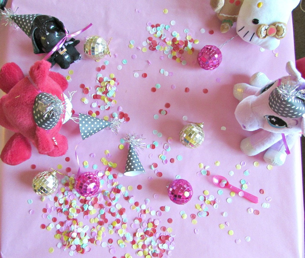 confetti and pink tea party