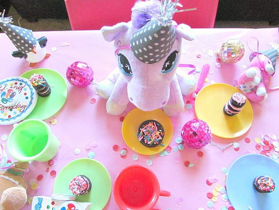 tea party for little stuffed animals