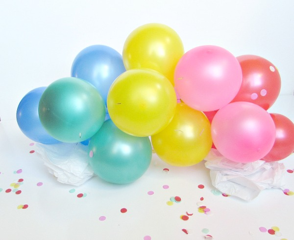 small rainbow balloons