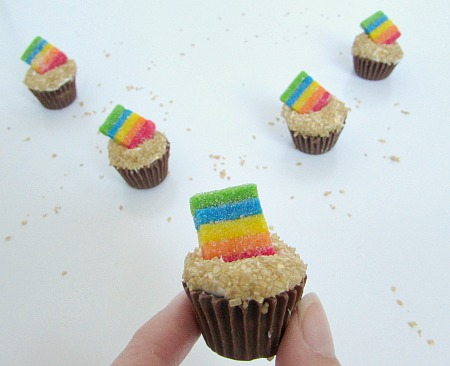 tiny rainbow and pot of gold candy