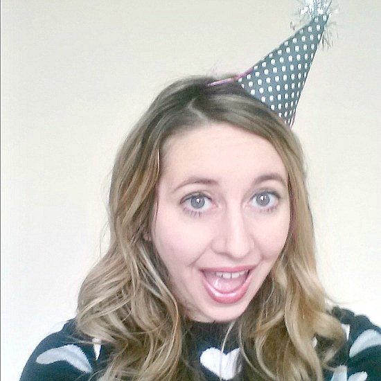 me with a party hat on
