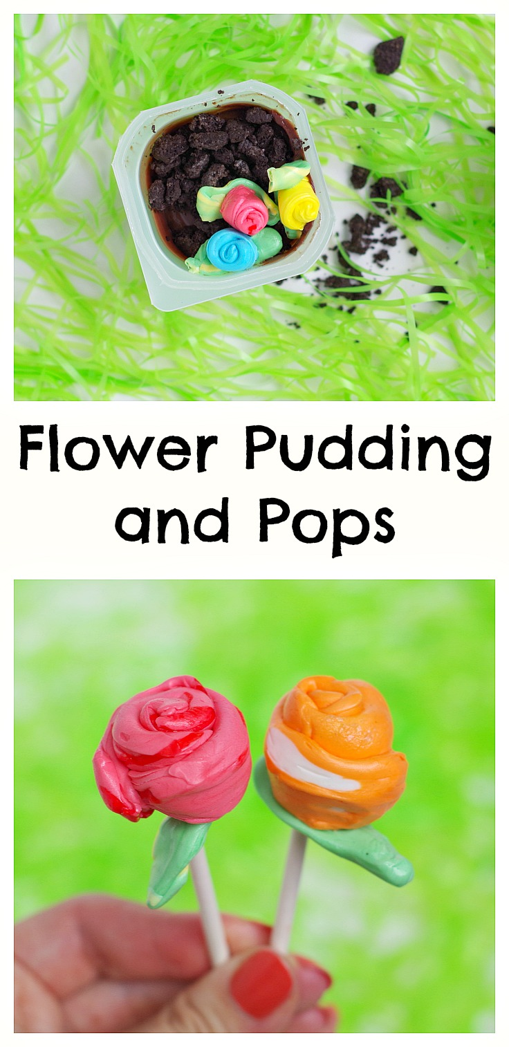 Flower Pudding and Pops