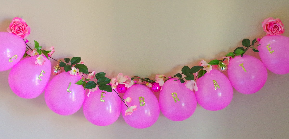 spring flower balloon garland