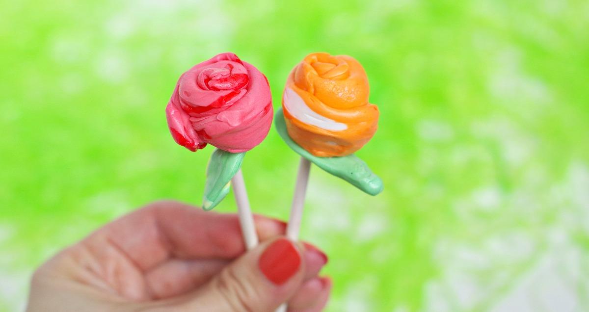 bright flower taffy pops