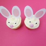 Bunny Cupcakes with Printable Ears