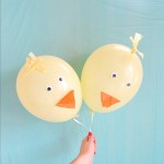DIY Easter Chick Balloons