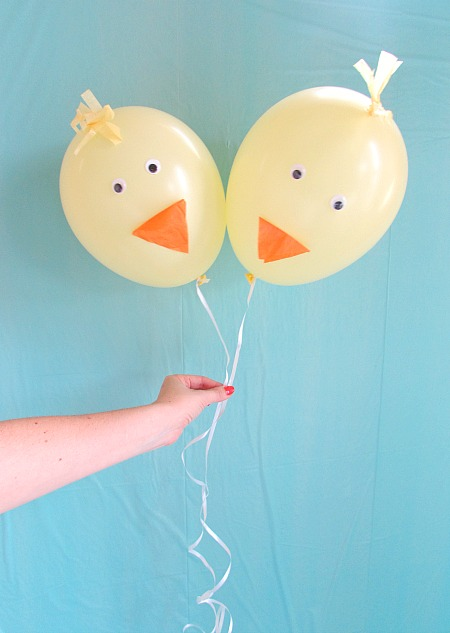 cute baby chick diy balloons