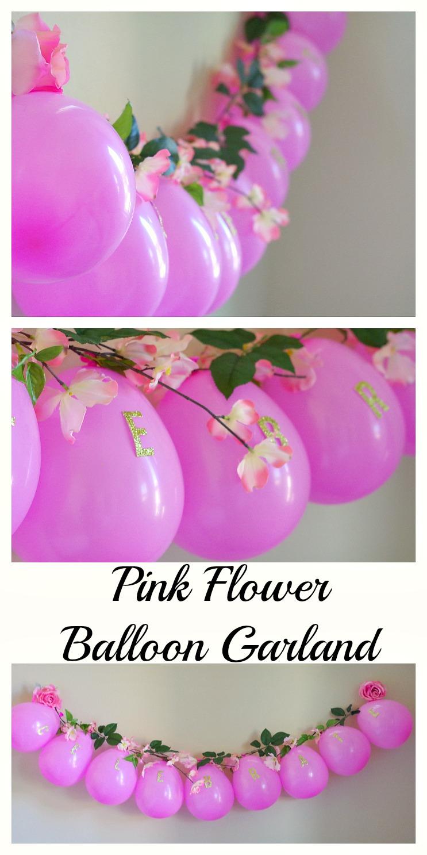 Pink Flower Balloon Garland Val Event Gal