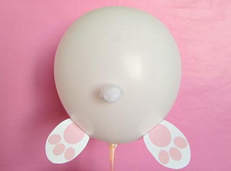 easter bunny butt balloon