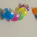 Glitter Easter Egg Garland and Dollar Store Craft Blog Hop