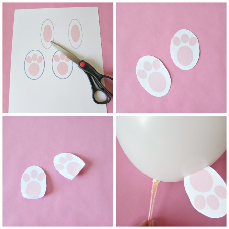 how to make bunny balloons