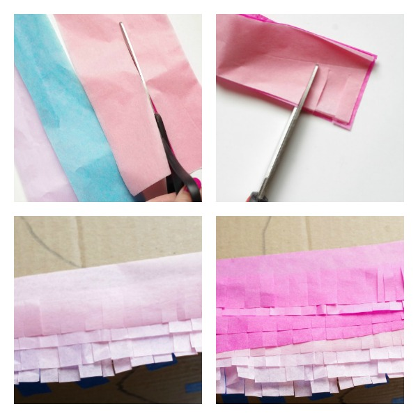 Cut and add tissue paper