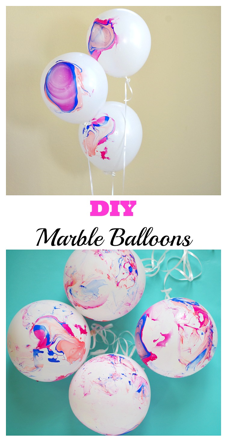 DIY Marble Balloons