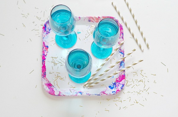 marble party serving tray