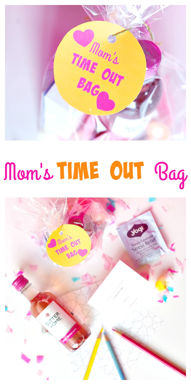 Mom's Time Out Bag! Give your mom a much needed time out for Mother's Day with lots of relaxing goodies