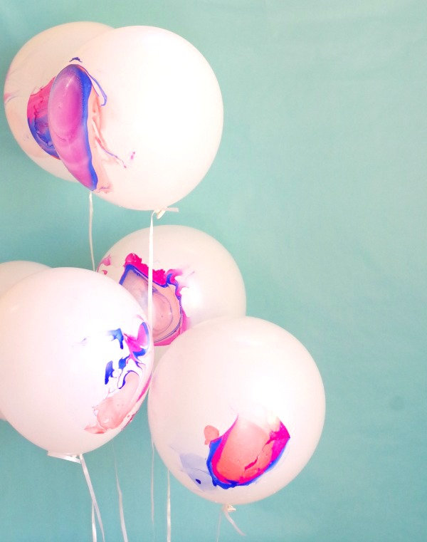 pink, orange and blue balloons