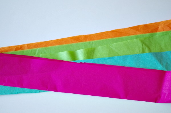 strips of tissue paper
