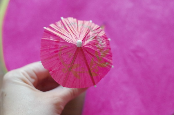 mini drink umbrella