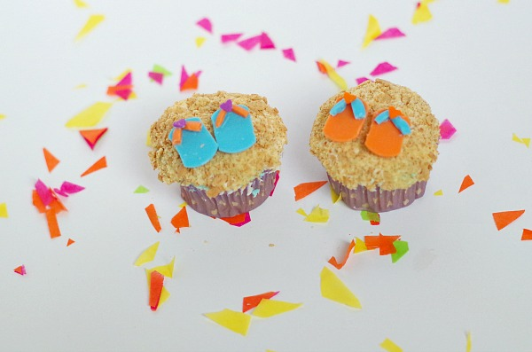little sandal cupcake toppers