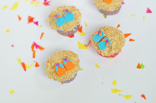 sandal summer cupcakes