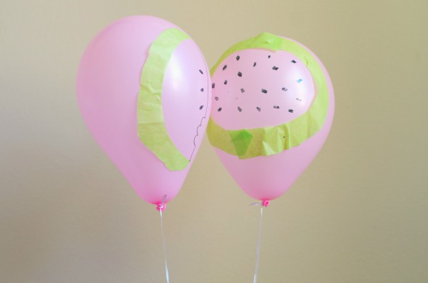 diy watermelon balloons