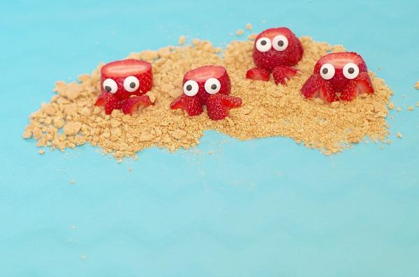 fruit in shape of crabs
