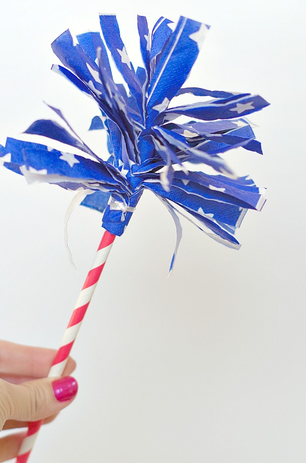 Simple firework wands for 4th of july