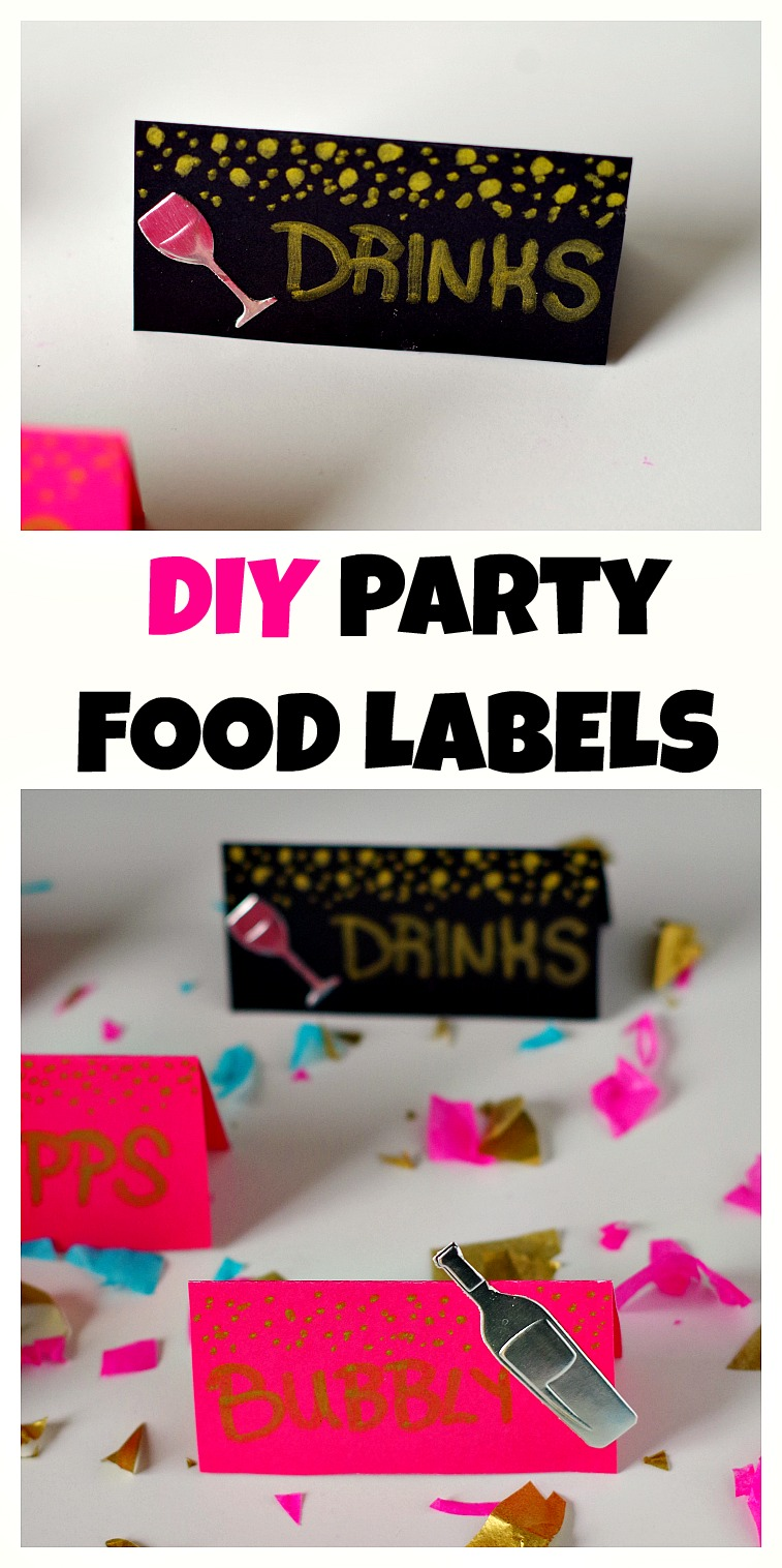 DIY Party Food Labels