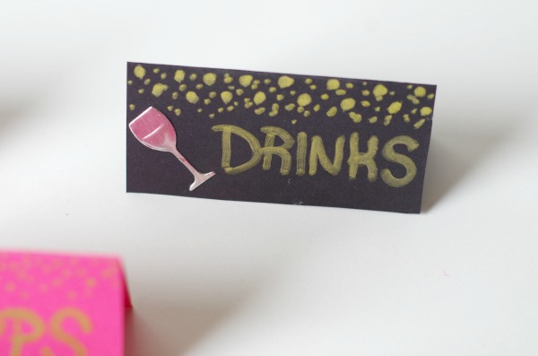 party drink label