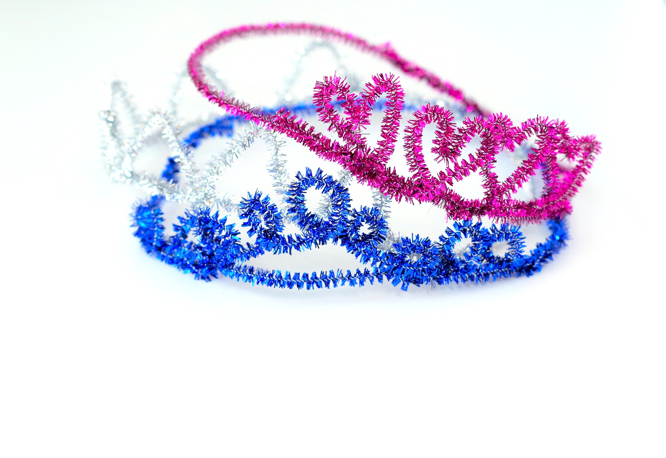 sparkle pipe cleaner crowns