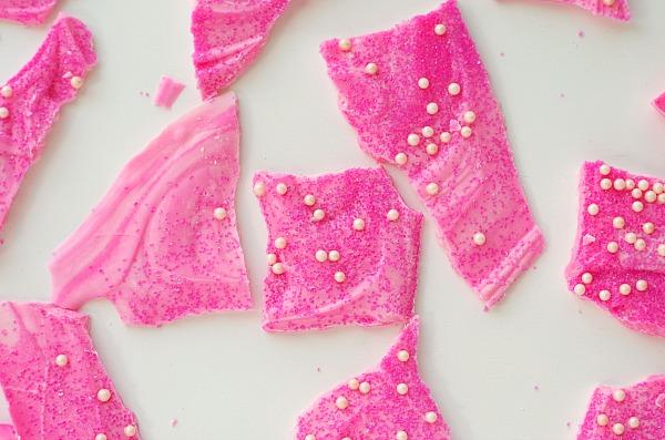 swirly pink princess bark