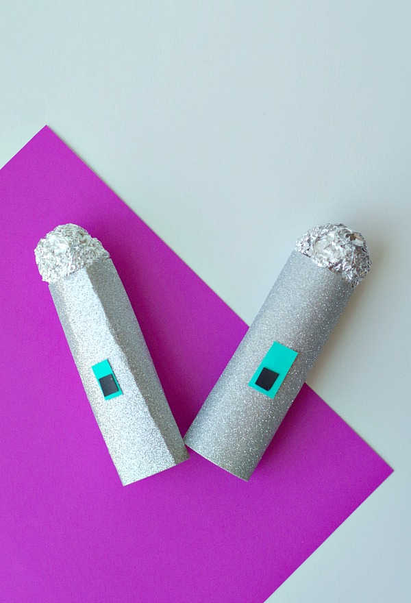 sparkly microphone craft