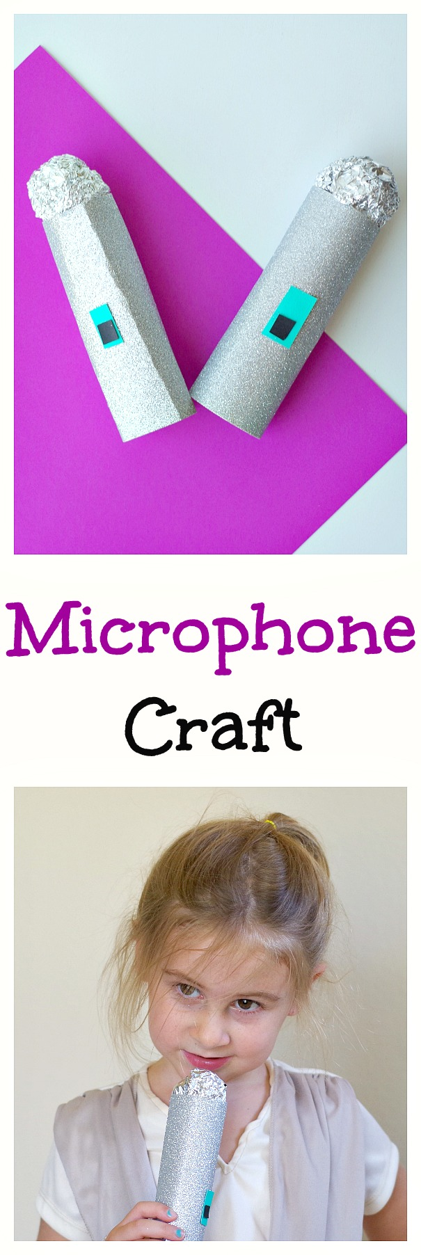 Microphone Craft! Make this easy craft with kids for fun singing performances.