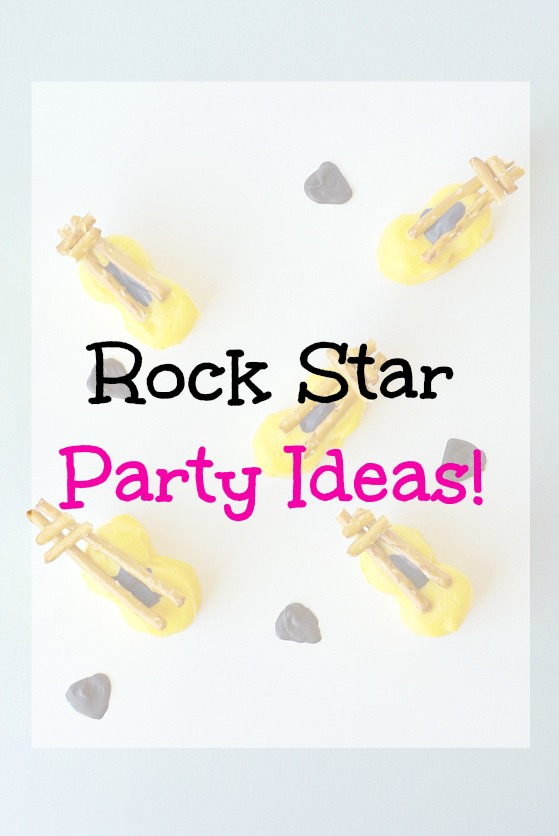 Rock Star Party Ideas! Fun ideas for food and activities at a rock star party.