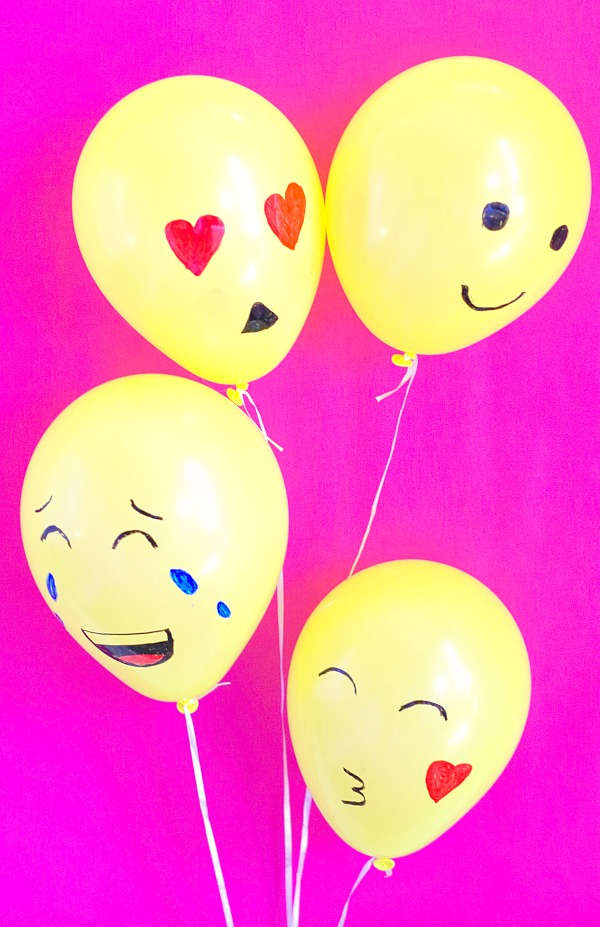 Simple emoji balloons