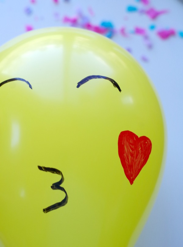 blowing kiss emoji balloon