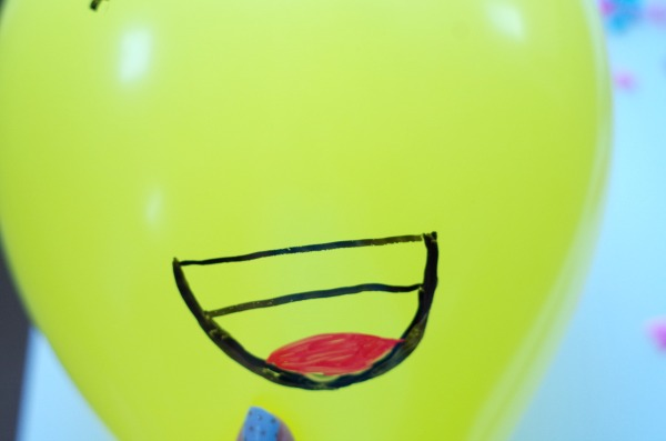 laughing balloon mouth