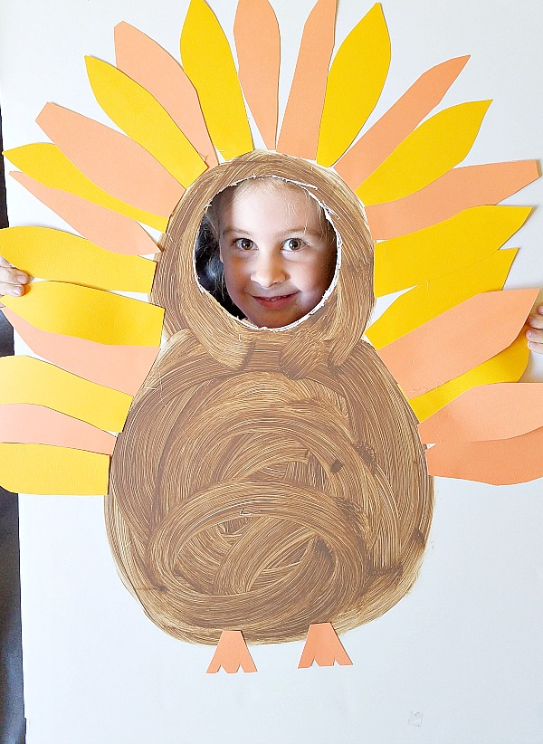 Thanksgiving turkey photo prop