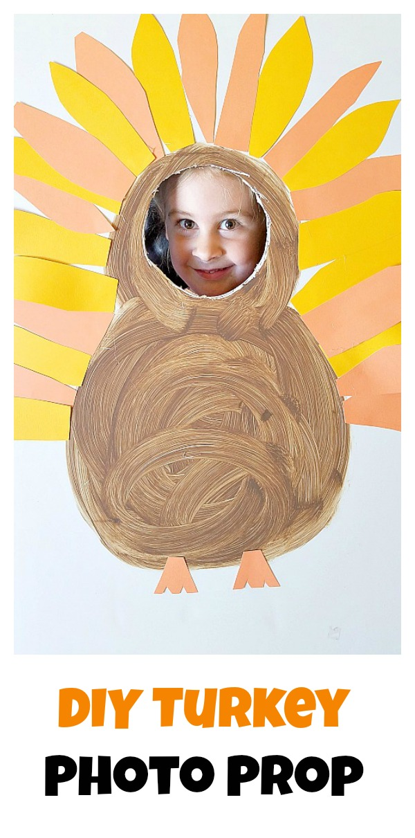 DIY Turkey Photo Prop, turn yourself into a turkey!