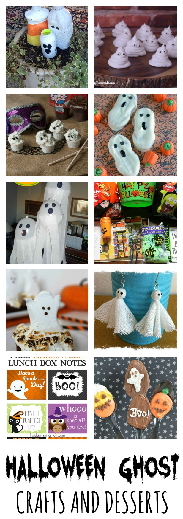 Halloween Ghost Crafts and Desserts! Simple and fun Halloween ghost ideas.