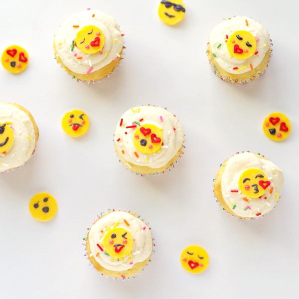 fun emoji cupcake toppers