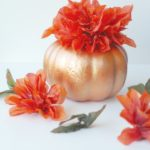 Dollar Store Fall Pumpkin Centerpiece