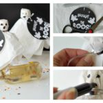 Wine Bottle Ghosts with Printable Tags