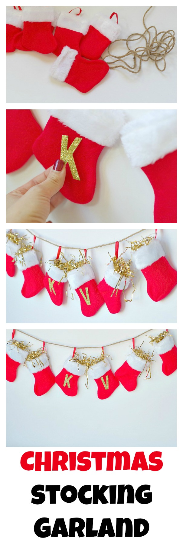 Christmas stocking garland val event gal